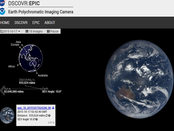 Now watch Earth daily on New NASA Website