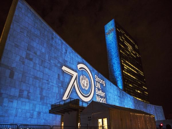 World lights up in blue to mark UN's 70 years; Ban says we remain beacon for all humanity