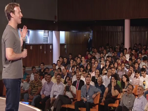 Mark logs in at IIT Townhall; India is a crucial market for Facebook says CEO
