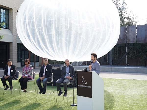 To empower Indonesia with internet Alphabet to bring net in balloons for 100 million people