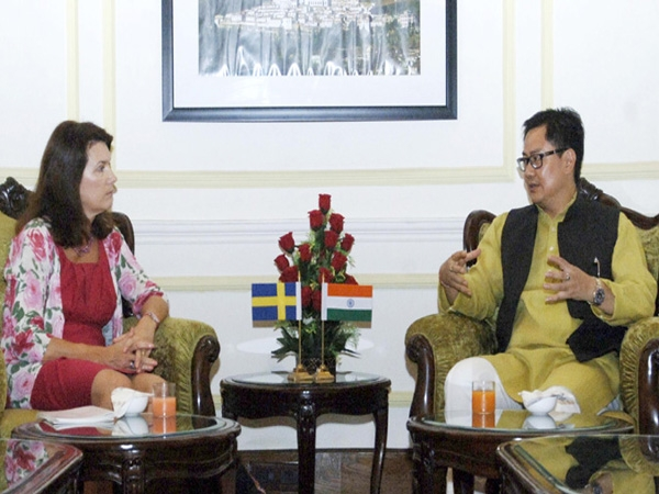 Sweden's Ann Linde meets Rijiju; discusses issues related to ISIL threat, disaster management