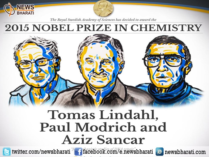 Nobel Prize 2015 in Chemistry shared in three, prize bagged for mechanistic studies of DNA repair