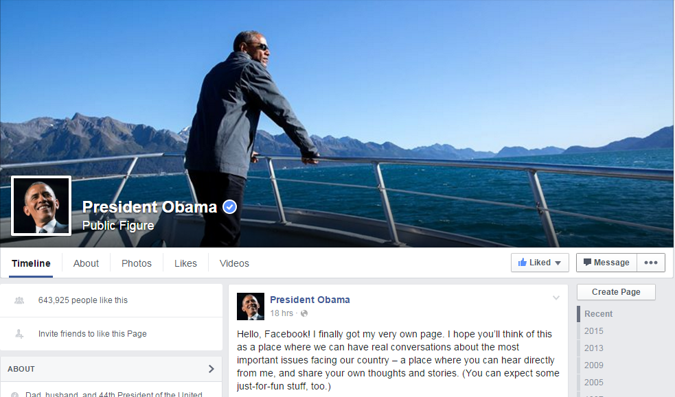 After Twitter, Obama joins Facebook seeks to have real time conversations