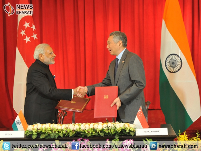 India-Singapore ink 10 pacts; both leaders release joint stamp to mark 50 years of diplomatic relationship