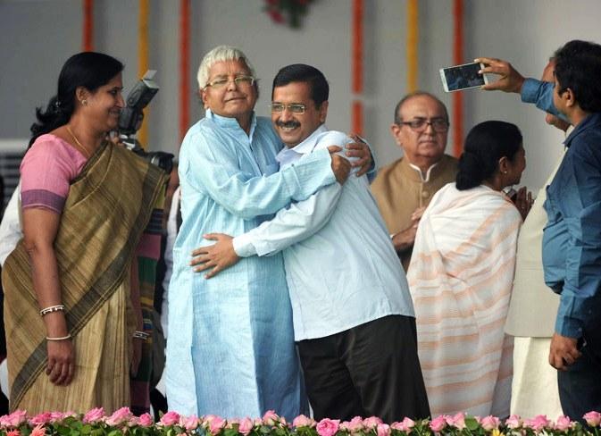 Lalu Yadav 'pulled and hugged' me at Nitish Kumar's oath taking ceremony, says Kejriwal