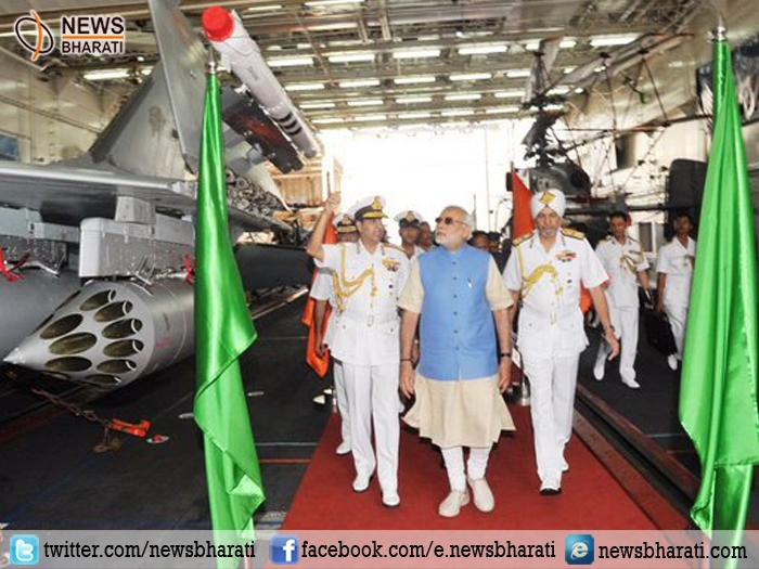 PM Modi chairs commanders' conference on board INS Vikramaditya; says India's history has been influenced by the seas