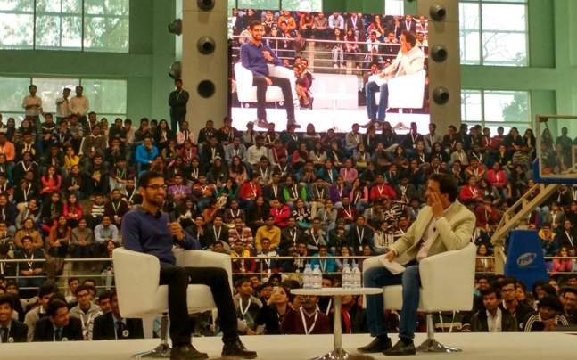 Google CEO Sundar Pichai asks students to follow their heart to reach desired goals