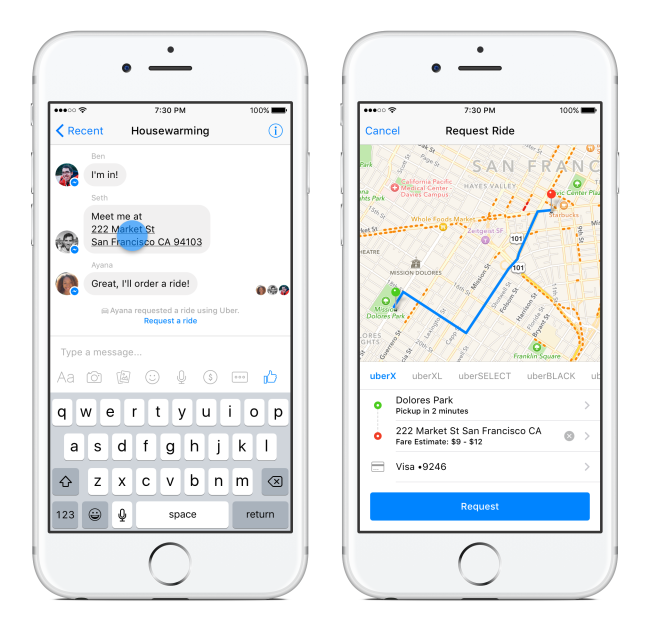 Facebook's Messenger to give first ride free with its new feature of transportation