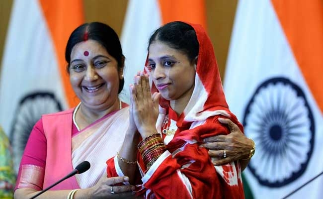 Sushma Swaraj urges people to help to find Geeta's Family