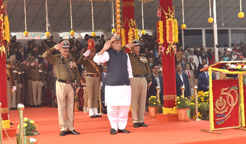 BSF has emerged as a formidable border guarding force and it is one of the best in the world says Rajnath