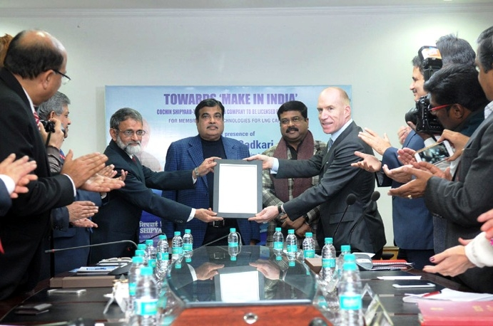 Cochin Shipyard Limited becomes first licensed Indian Shipyard to make LNG Ships by using Mark-III Technology