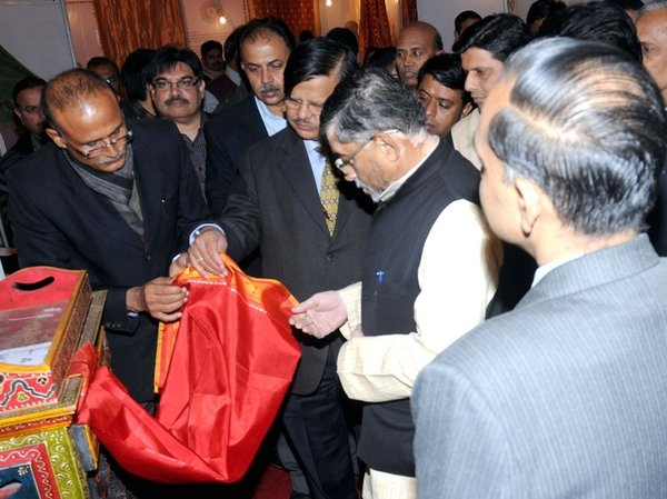 Gangwar inaugurates India Handloom Exhibition to show an exquisite collection of handloom products
