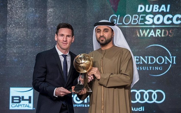 Lionel Messi awarded