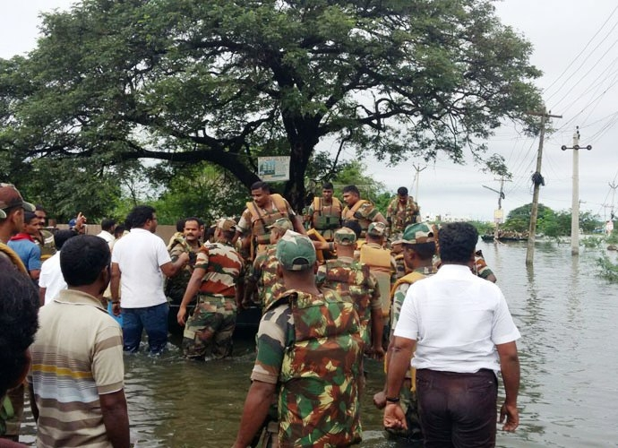 INS Airavat begins rescue and relief work in flood-hit Tamil Nadu, two more ships to arrive today