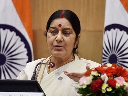 Swaraj to leave for  2-day official visit to Palestine and Israel to  share multifaceted relationship
