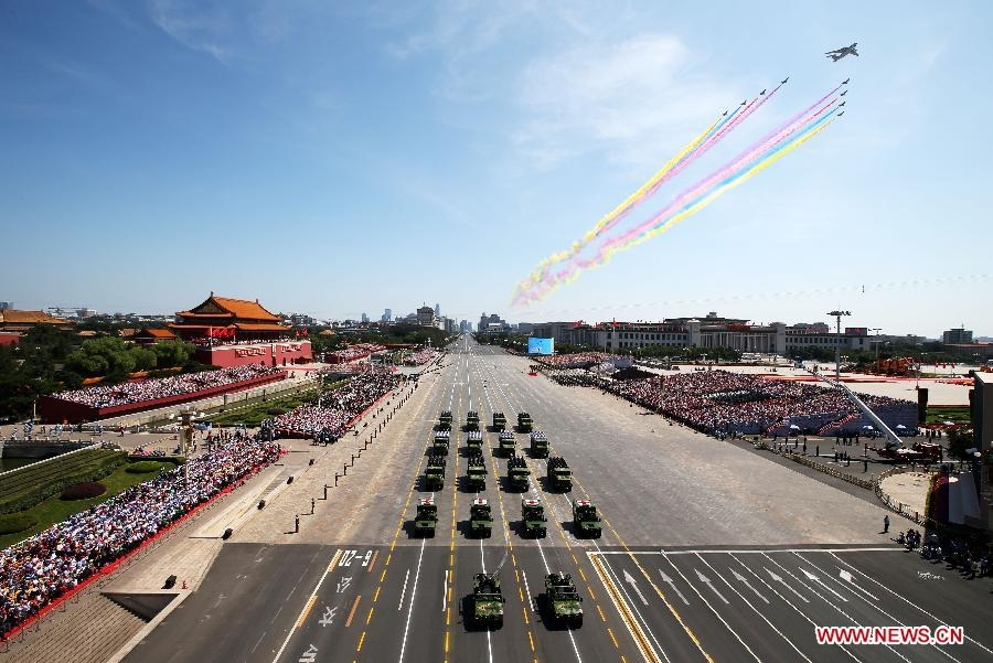 Homemade missiles shown in China's V-Day parade