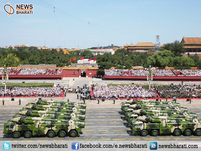 China presents its active defense military strategy through massive parade