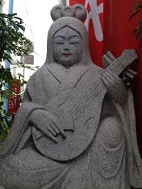 Japan has 100 shrines of Goddess Saraswati