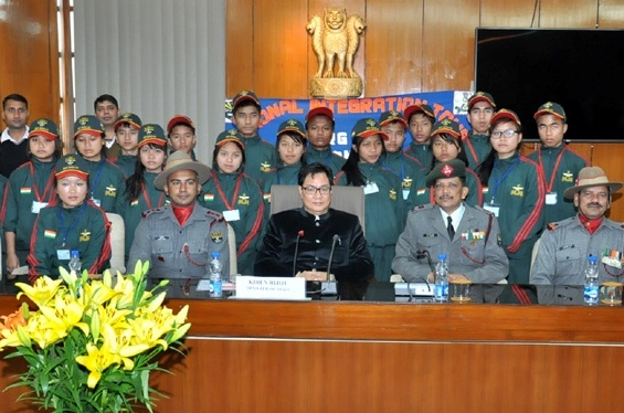 Rijiju interacts with Mizoram children; urges them to contribute to make India a superpower