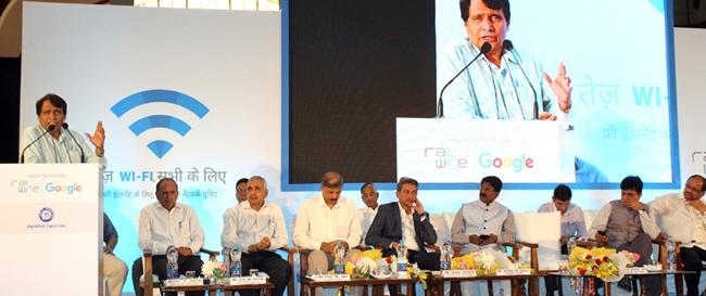 Prabhu launches India's first Wi-Fi service at Mumbai Centarl