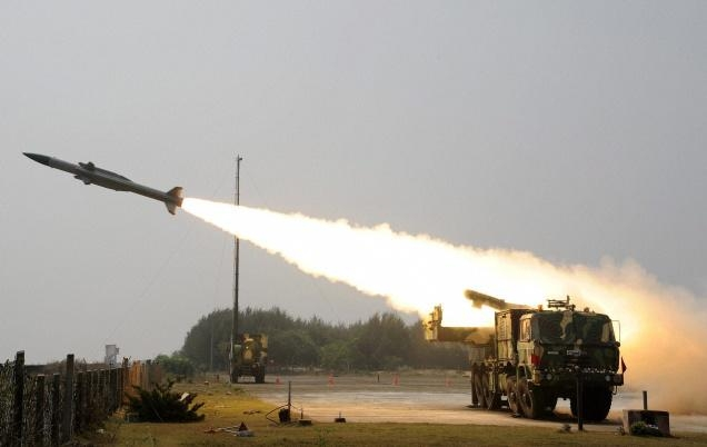 India successfully test fires surface-to-air Akash Missiles at Chandipur