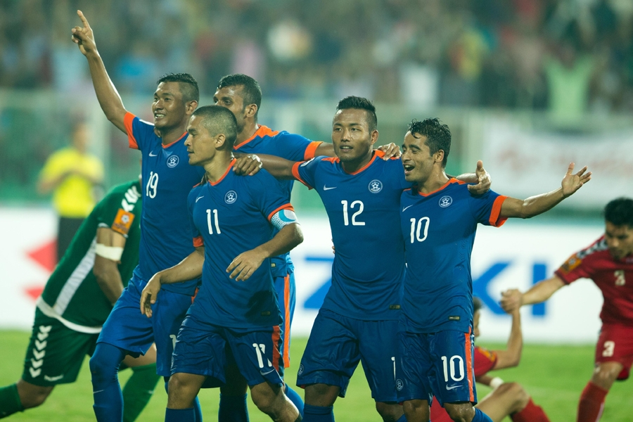 India defeats Afghanistan in SAFF cup 2015 final, claimed the title for 7th time