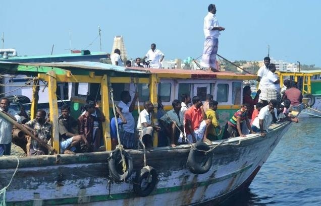 28 Indian fishermen arrested by Sri Lankan Navy, one merchandised and two fishing boats seized