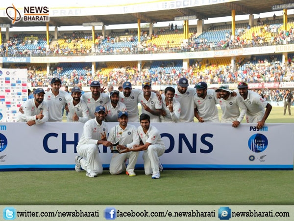 India crushes Kiwis by 321 runs in the 3rd Test to top  ICC Test team rankings