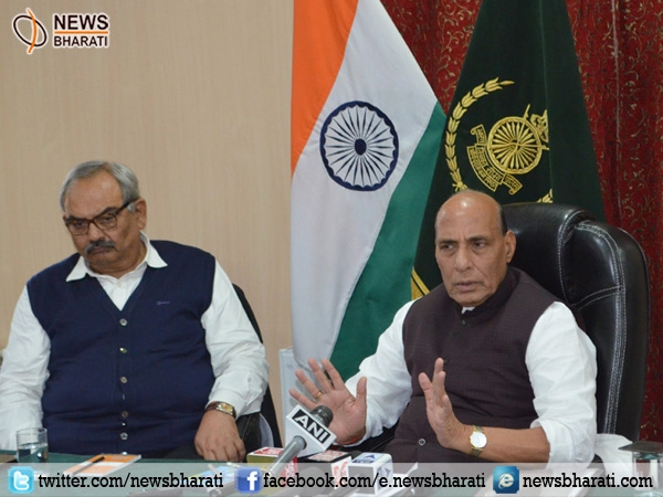 Rajnath Singh meets different delegations at Leh; reviews security situation in state