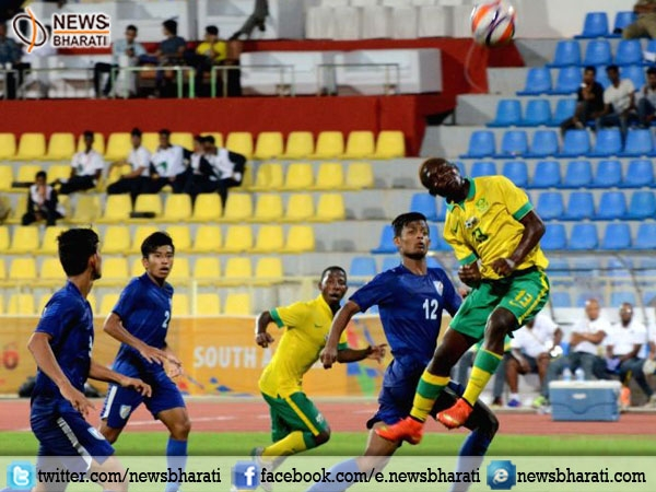 Indian team loses to South Africa by 0-1 at 2nd match of BRICS U-17 football tournament