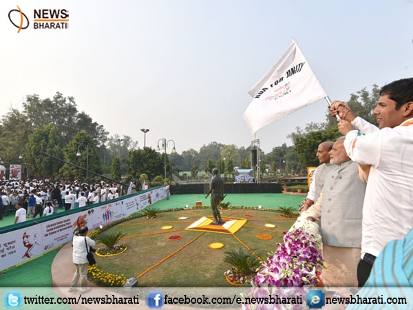 PM Modi flags off run for unity; releases stamp to commemorate anniversary of Sardar Patel