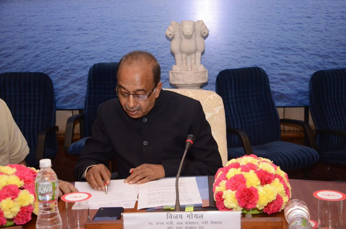 Inter-linking of Rivers an attempt to boost the Surplus Water Availability to Needy States: Vijay Goel