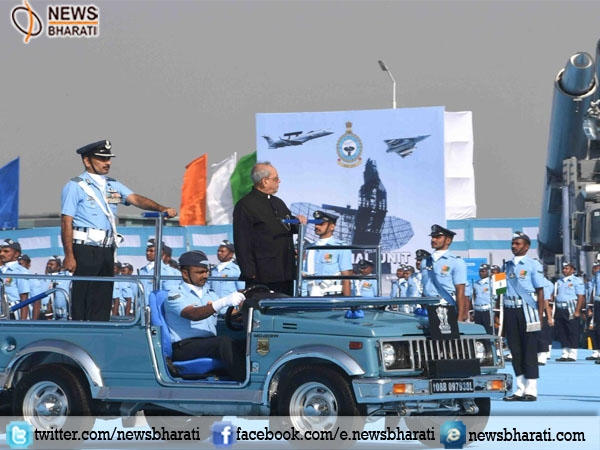 Nation is Honoured to have 501 Signal Unit and 30 Squadron, Air Force: President Mukherjee