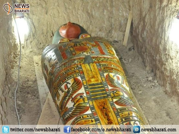 Archaeologists discover ancient Egyptian mummy in a tomb at Luxor