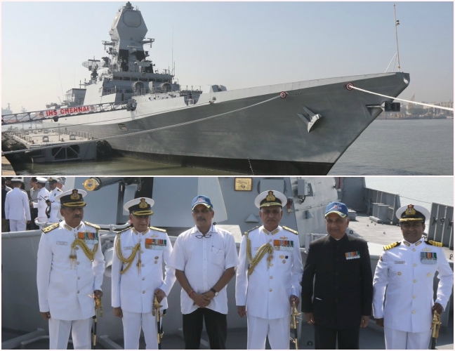 'INS Chennai' will add new dimension to our Navy's attack capabilities says Manohar Parrikar