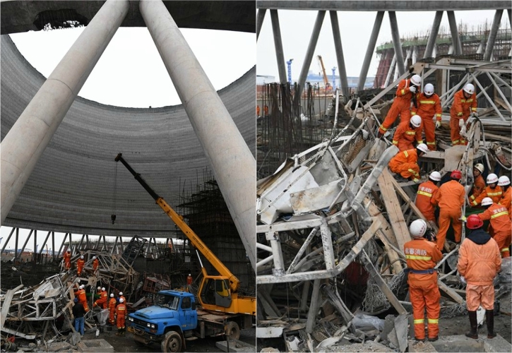 40 people killed in China's Jiangxi after power-plant cooling tower collapsed