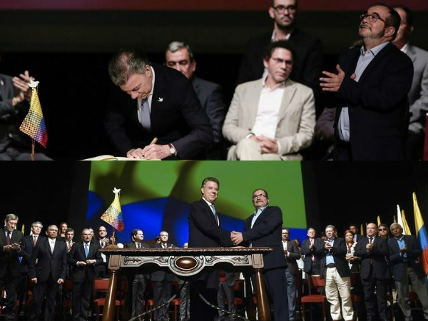 Columbian govt-FARC rebels sign revised peace deal ending 52 years of war