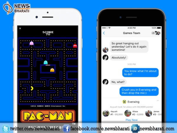 Facebook introduces instant games in messenger to make chatting experience interesting