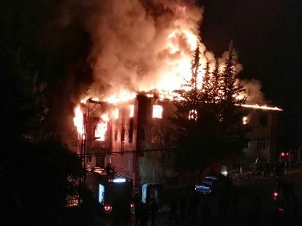 Firebreak at Turkey's students dormitory kills 12, several others injured