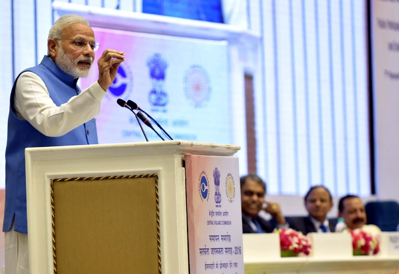 Prime Minister Modi pitches for technological intervention to bring transparency