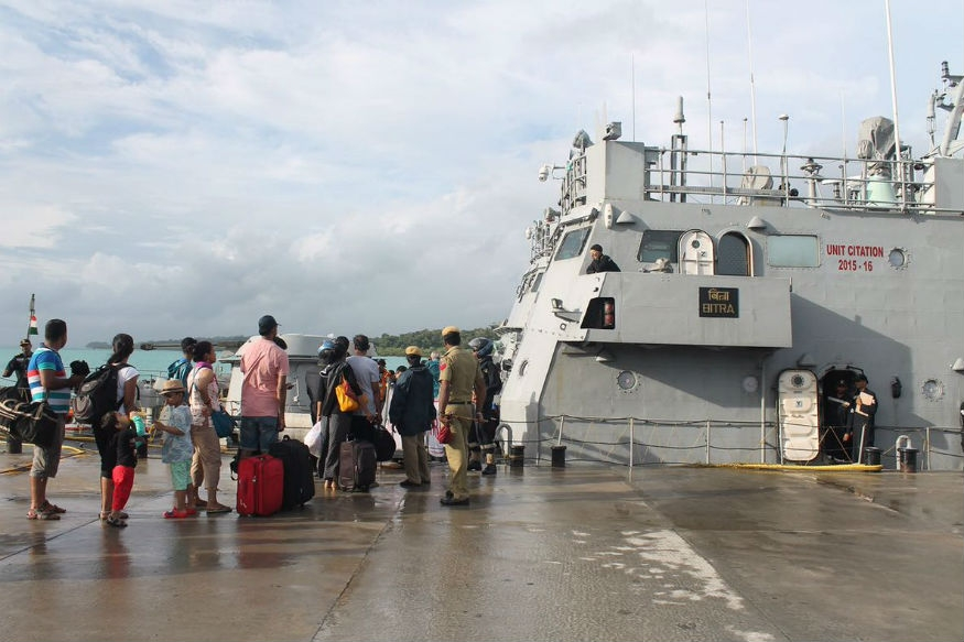 All stranded tourists safely evacuted from cyclon affected Havelock islands