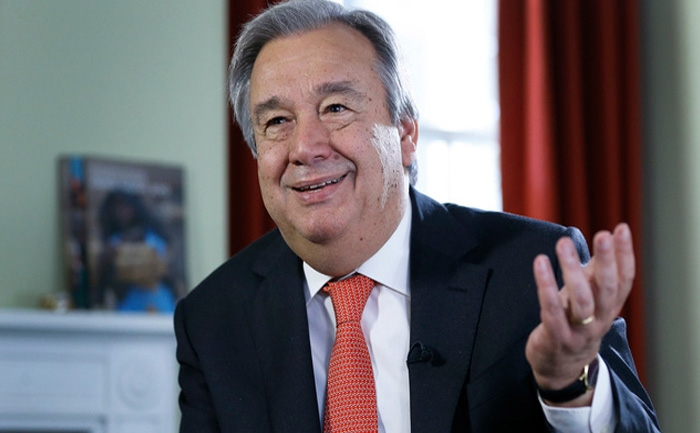 UN Secretary-General designate Guterres to take oath on Monday