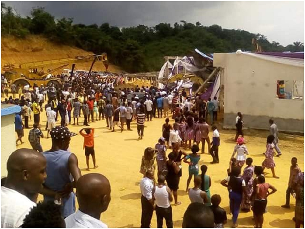 Church collapsed in Nigeria, 160 worshipers killed