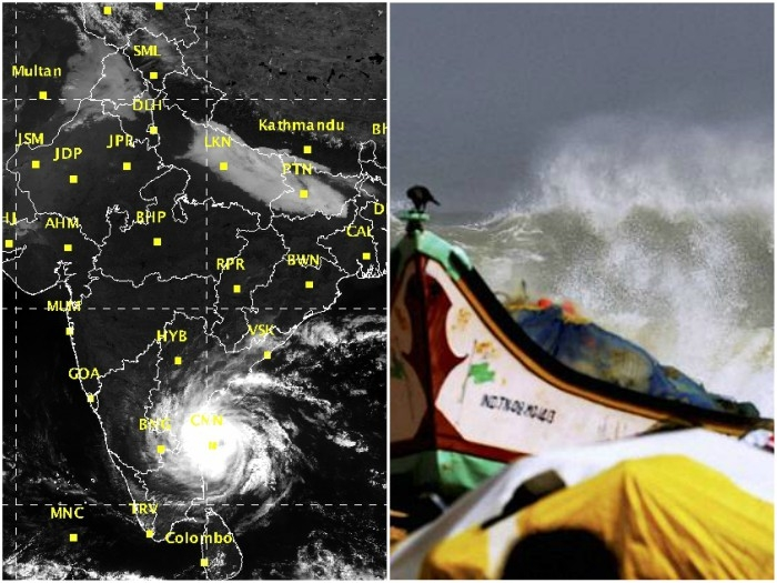 Cyclone Vardah likely to hit Tamil Nadu and A.P; NDRF, navy, army and airforce geared up for rescue