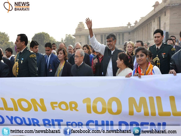 """100 Million for 100 Million Campaign"" to promote the right of every child to be safe, free, and educated"