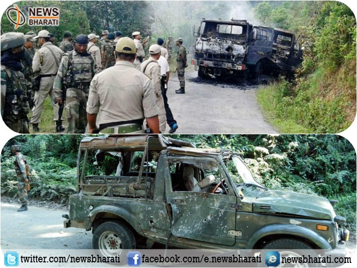 Two policemen killed and six others injured in terrorist ambush at Manipur