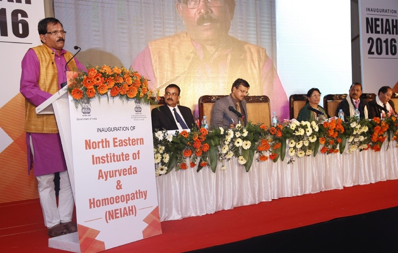 AYUSH Minister Shripad Naik inaugurates North Eastern Institute of Ayurveda & Homoeopathy at Shillong