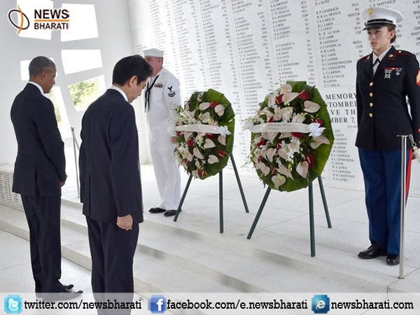 Shinzo Abe with Obama paid homage to victims of World War-II at Pearl Harbour