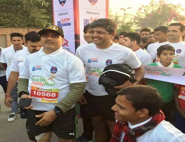 'Swachh Ability Run 2016' at Noida; an initiative to encourage differently-abled people
