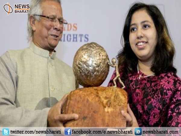 UAE-based Indian girl, Kehkashan Basu wins International Children's Peace Prize